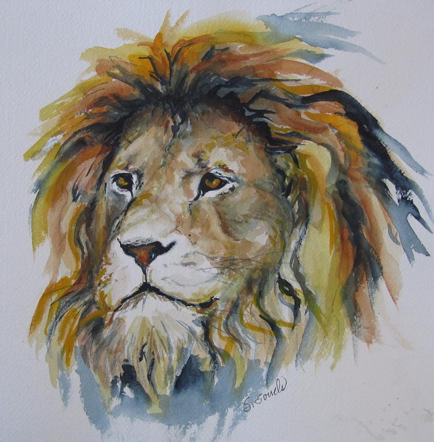 Portrait of a Lion by Sharon Sorrels