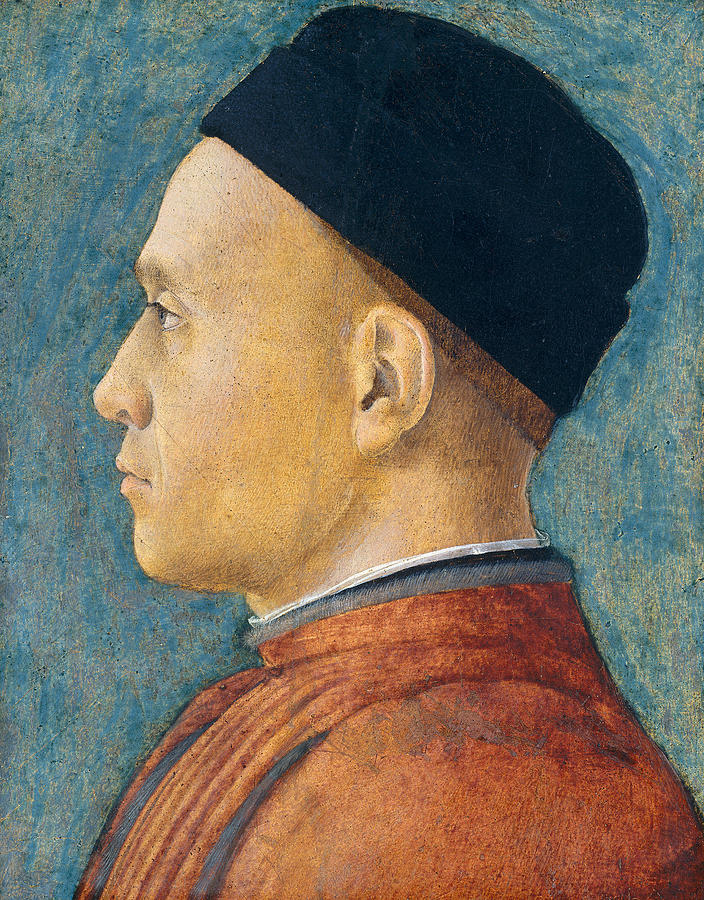 Profile Painting - Portrait Of A Man by Andrea Mantegna