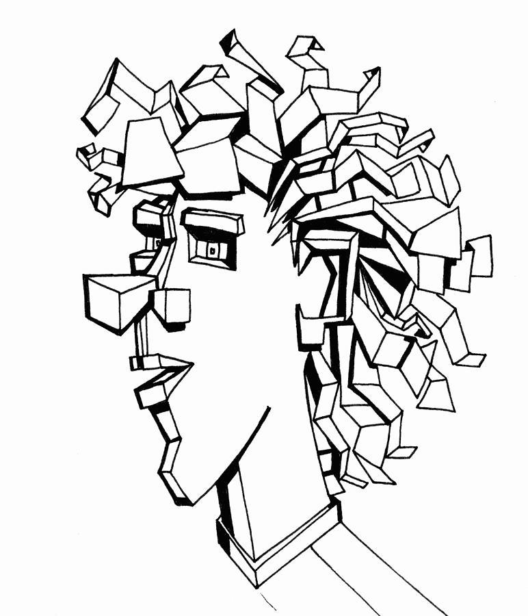 Portrait Drawing - Portrait Of A Man by Michelle Calkins