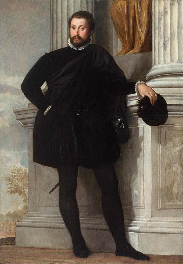 California Painting - Portrait Of A Man by Paolo Veronese