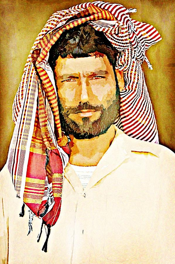 Balochistan Digital Art - Portrait Of A Man by Peter Waters