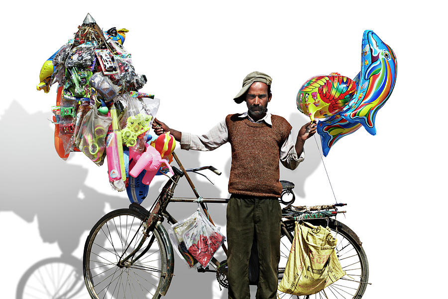 Portrait Of A Man Selling Toys And Photograph by Paper Boat Creative