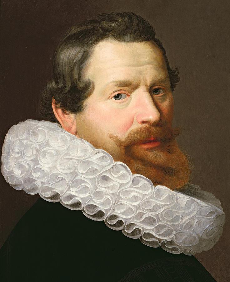Portrait Painting - Portrait Of A Man Wearing A Ruff by Dutch School