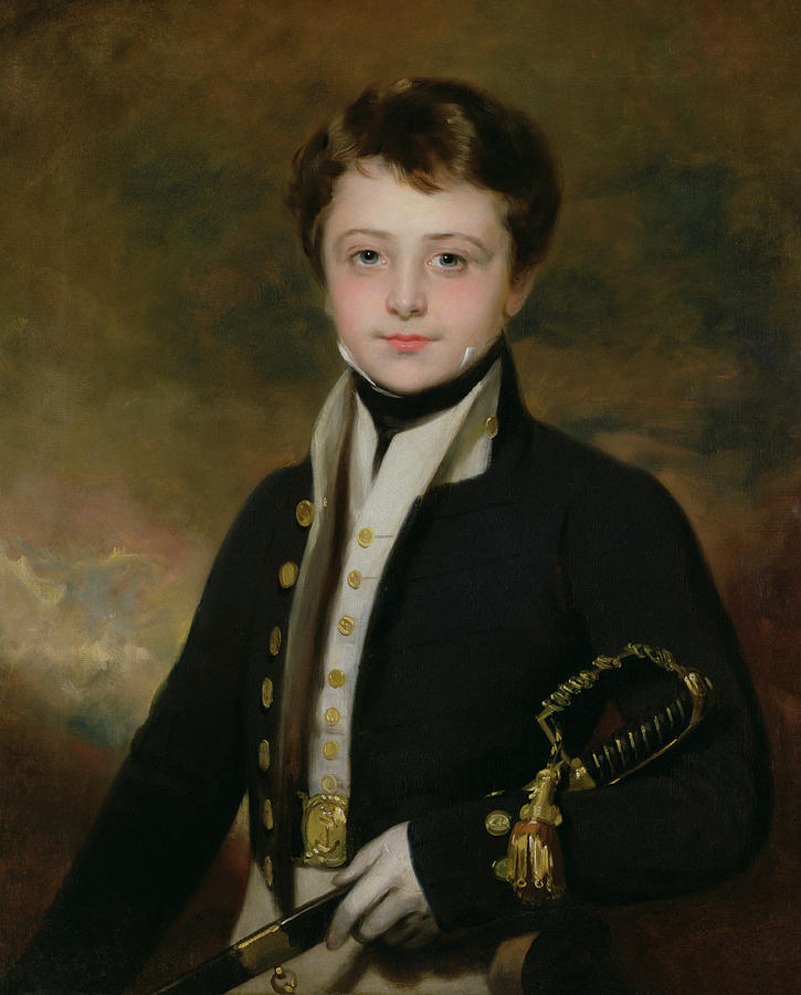 Naval Painting - Portrait Of A Midshipman by Sir Martin Archer Shee