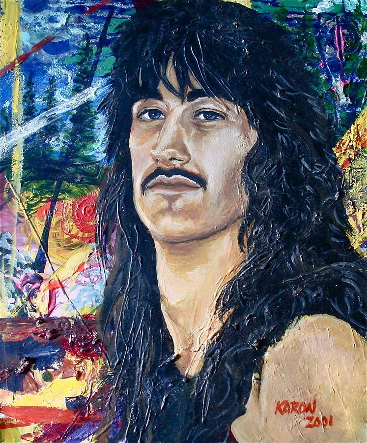 Man Painting - Portrait Of A Musician by Karon Melillo DeVega