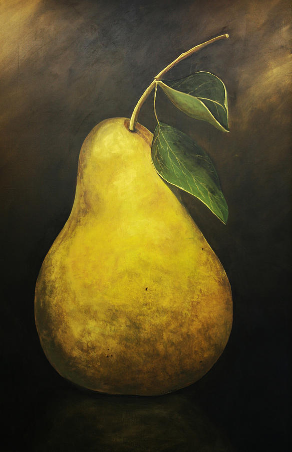 Portrait Of A Pear Painting by Terri  Meyer