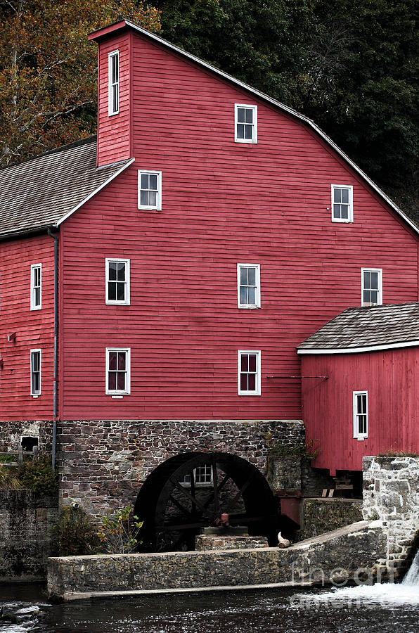 Old Red Mill Photograph - Portrait Of A Red Mill by John Rizzuto