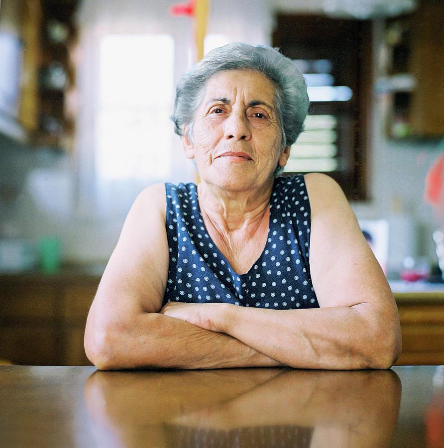 Portrait Of A Senior Woman Photograph by Thanasis Zovoilis