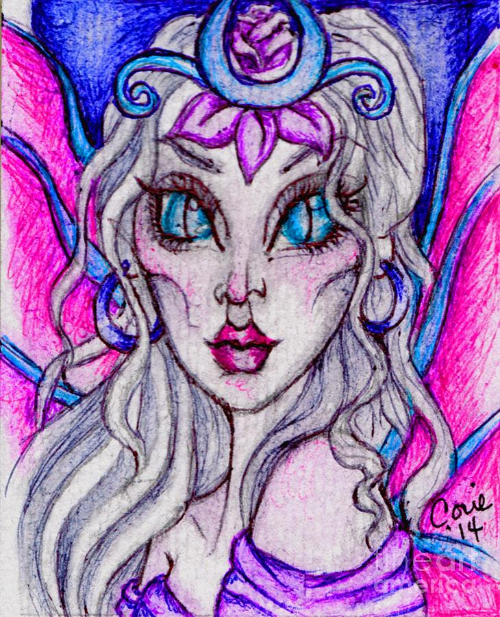 Queen Painting - Portrait Of A Sidhe Queen- Altheia by Coriander  Shea