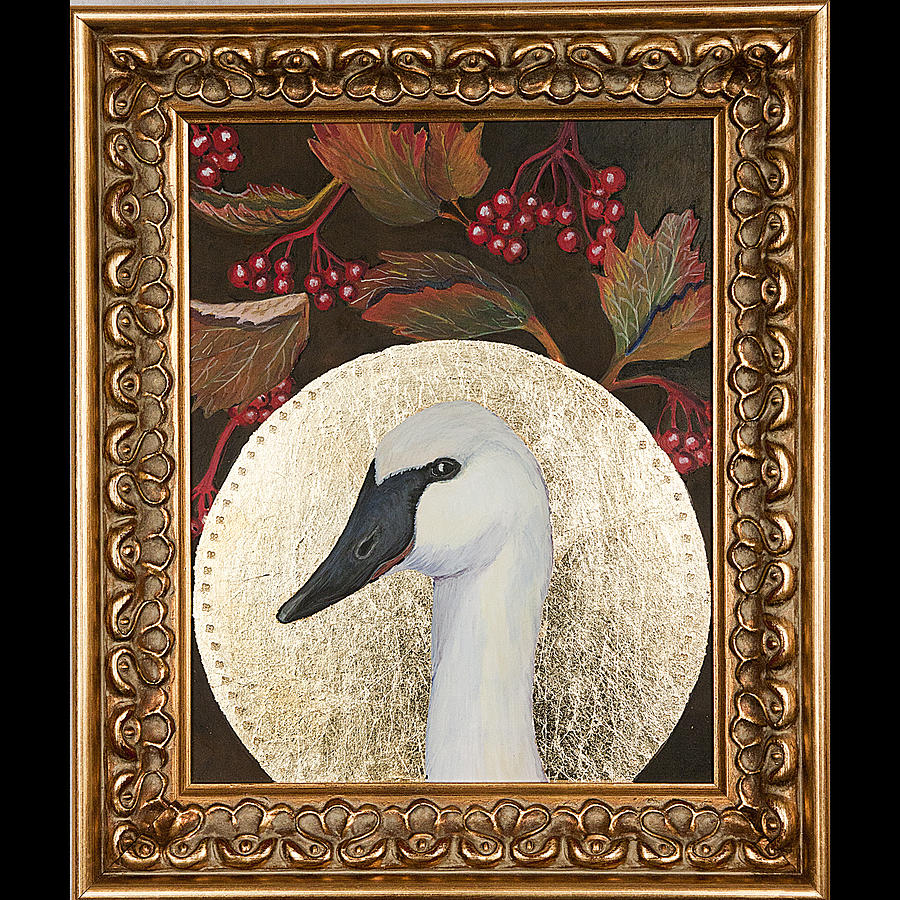 Swan Painting - Portrait Of A Trumpeter by Amy Reisland-Speer