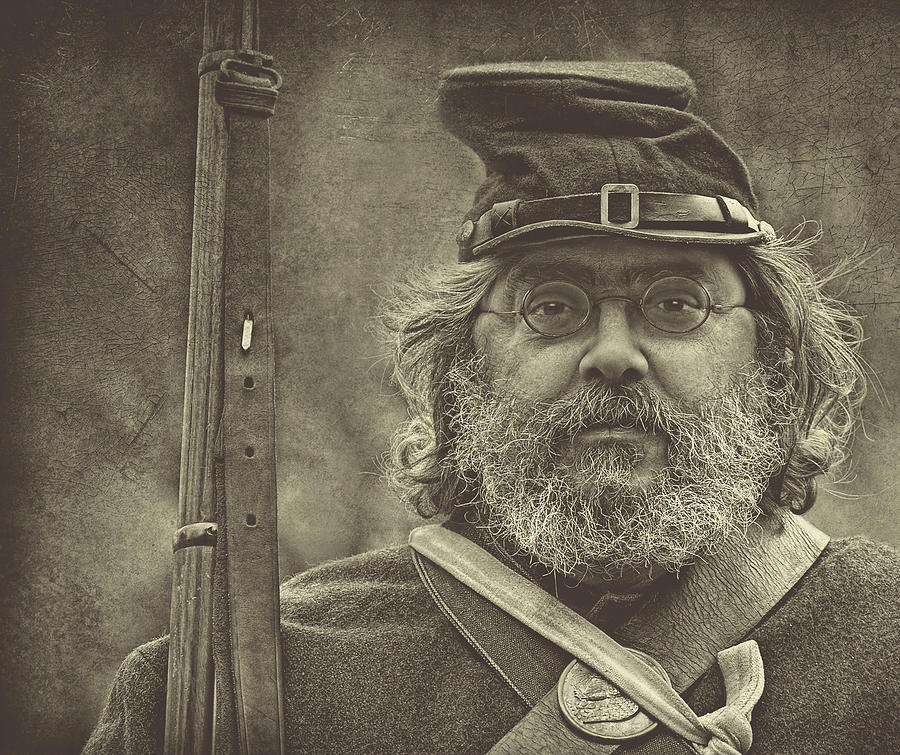 Soldiers Photograph - Portrait Of A Union Soldier by Pat Abbott