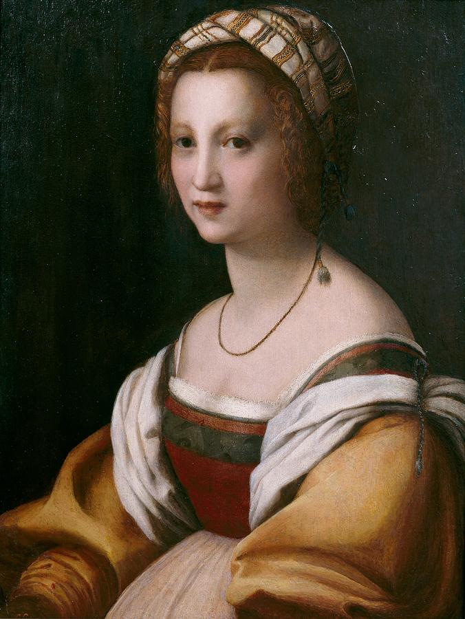 Cinquecento Painting - Portrait Of A Woman by Andrea del Sarto