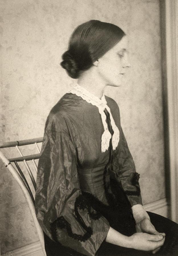 1895 Photograph - Portrait Of A Woman, C1895 by Granger