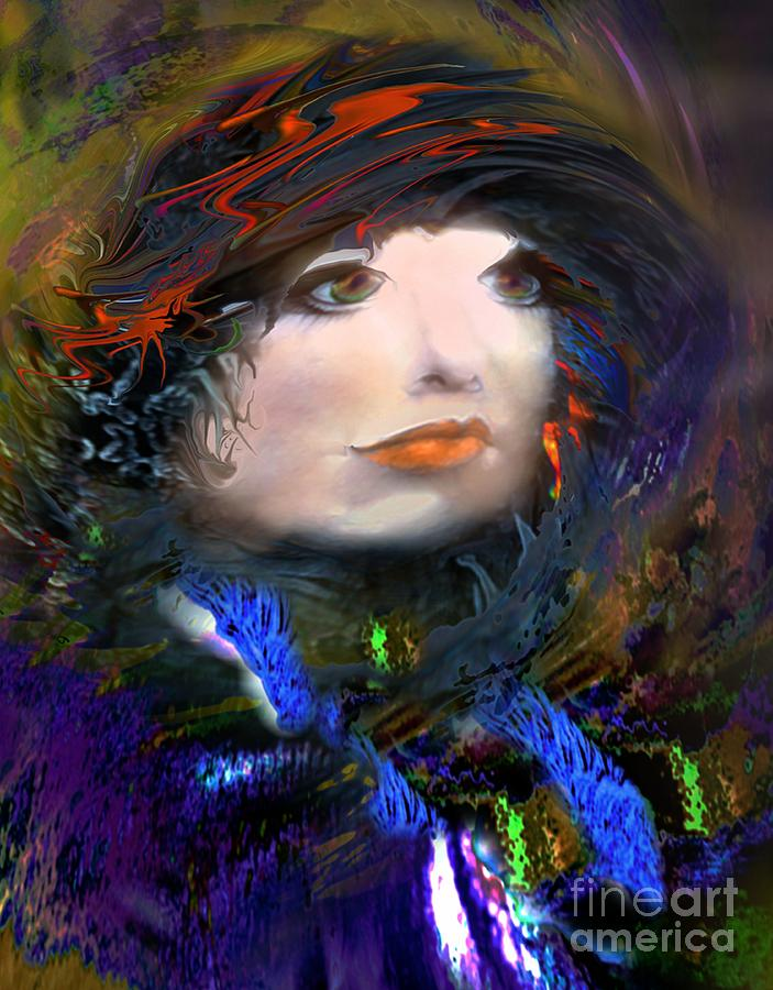 Unique Digital Art - Portrait Of A Woman From A Long Time Ago by Doris Wood