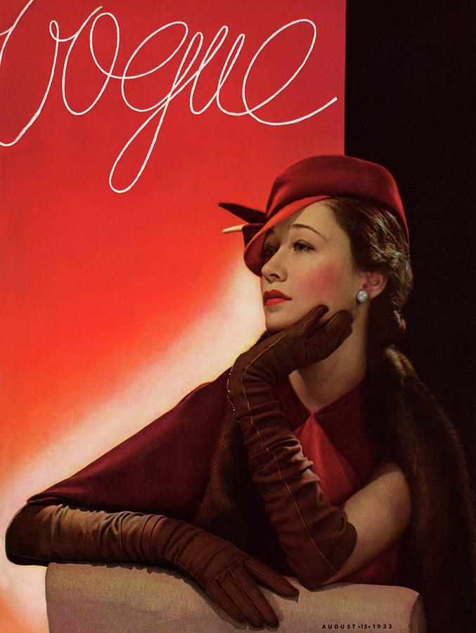 Portrait Of A Woman In A Red Hat Photograph by George Hoyningen-Huene