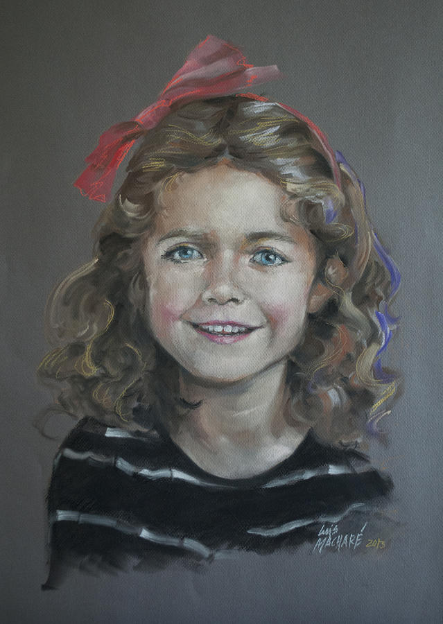Portrait Of A Young Girl Pastel - Portrait Of A Young Girl by Mary Machare