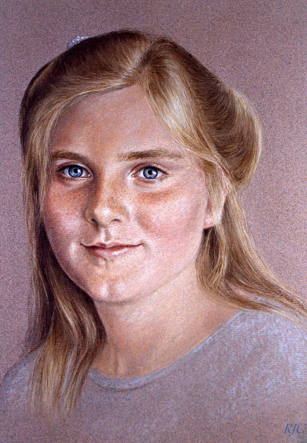 portrait of a young girl by Rosemary Colyer