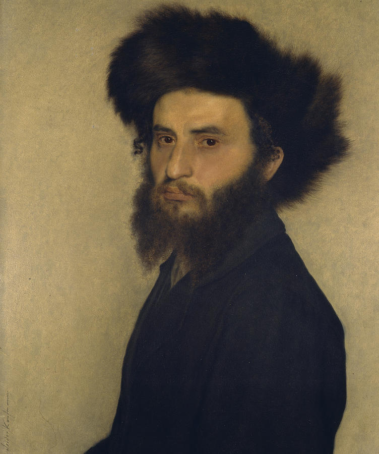 Portrait Painting - Portrait Of A Young Jewish Man  by Isidor Kaufmann