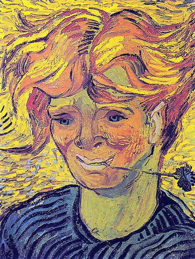 Vincent Van Gogh Digital Art - Portrait Of A Young Man With Cornflower by Vincent Van Gogh