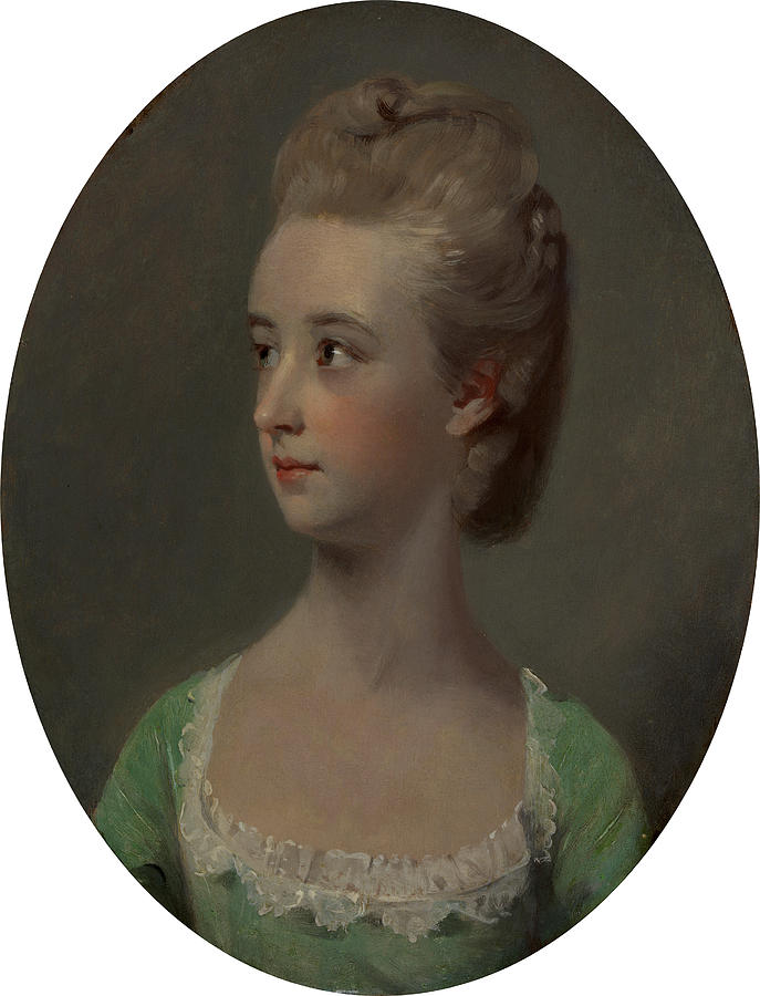 Oil On Panel Painting - Portrait Of A Young Woman, Possibly Miss Nettlethorpe by Litz Collection