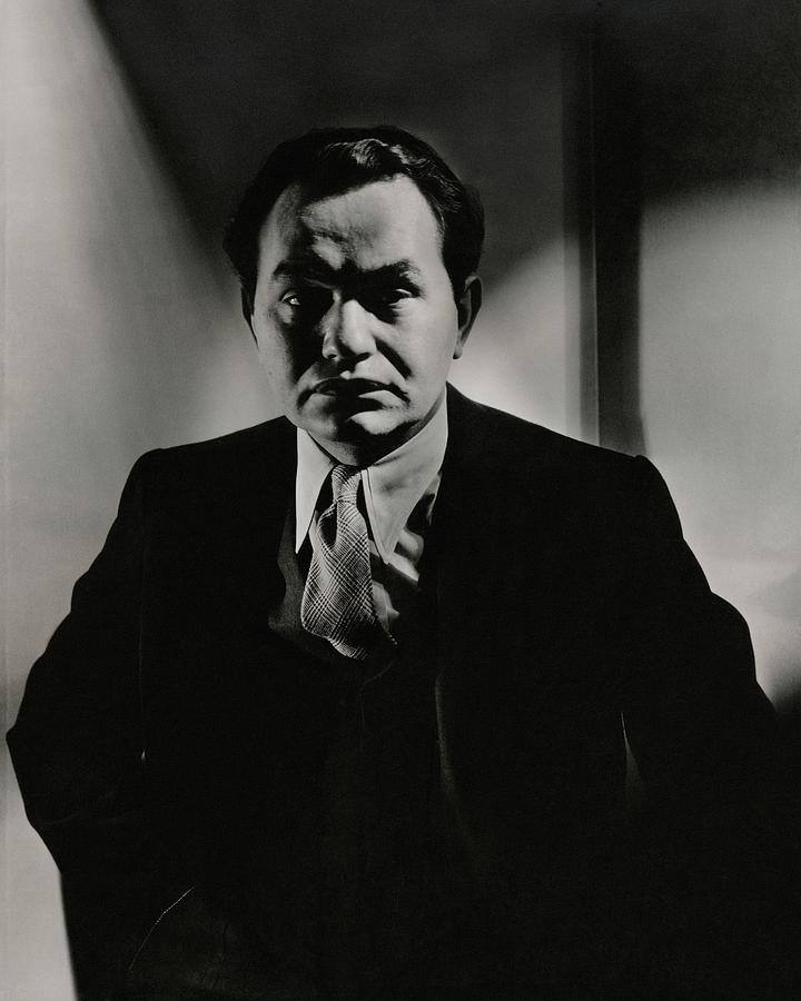 Portrait Of Actor Edward G. Robinson Photograph by Anton Bruehl