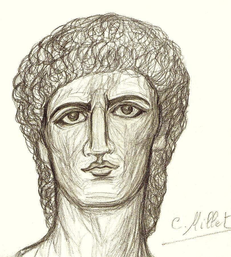 Portrait Drawing - Portrait Of Adonis by Cindy MILLET