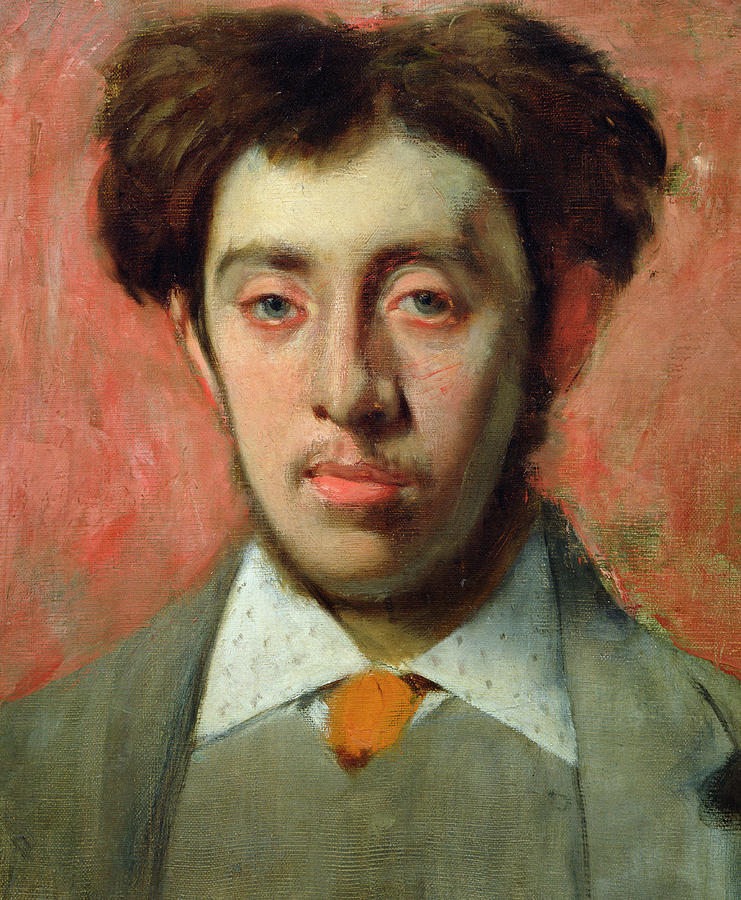 Portrait Of Albert Melida Painting By Edgar Degas