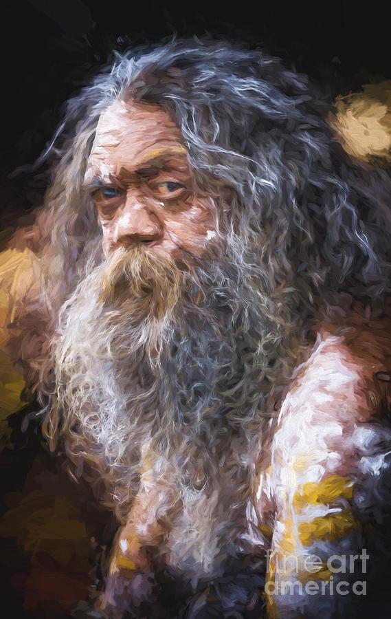 Aborigine Photograph - Portrait of an aboriginal by Sheila Smart Fine Art Photography