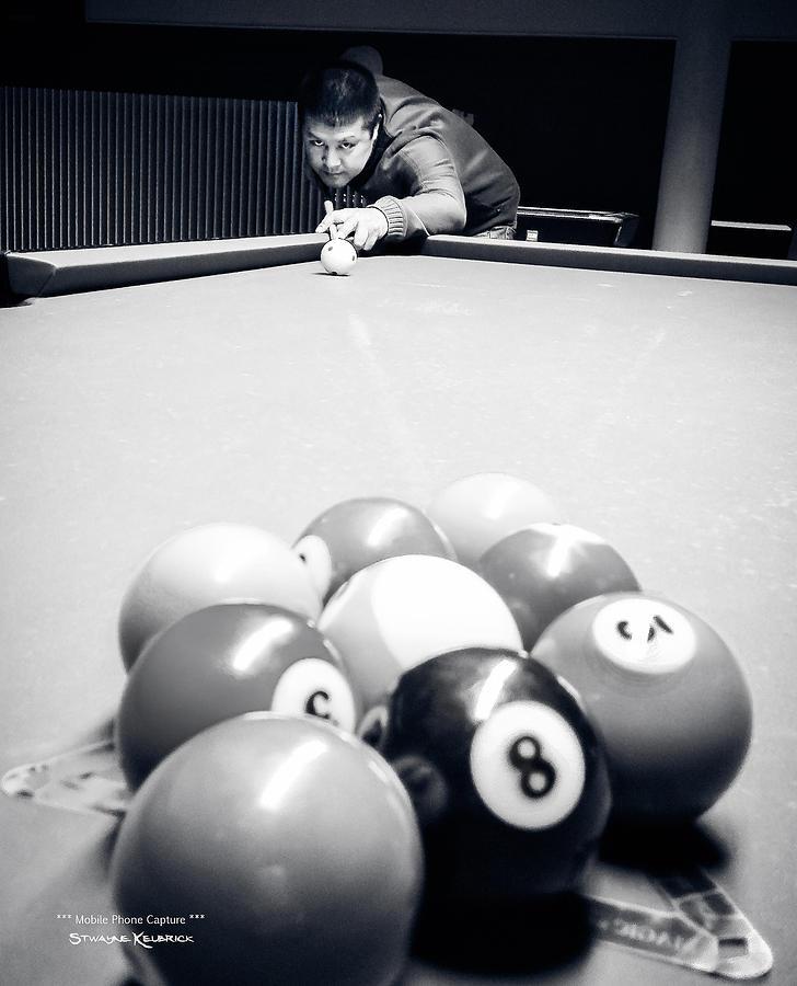 Portrait Photograph - Portrait of an awesome pool player by Stwayne Keubrick