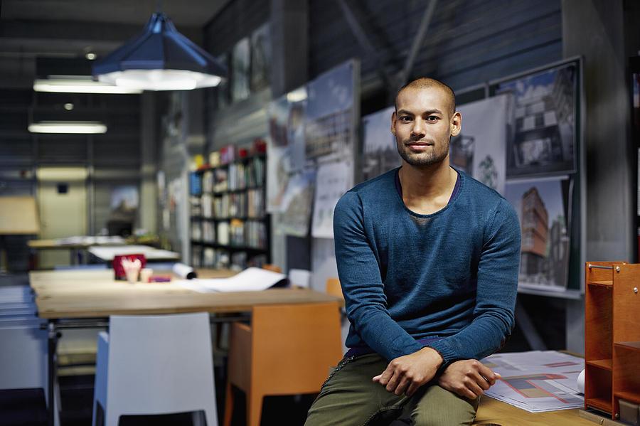 Portrait of architect Photograph by Morsa Images