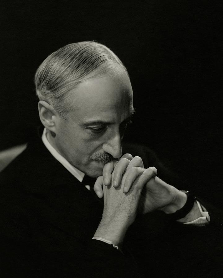 Portrait Of Author Andre Maurois Photograph by George Hoyningen-Huene