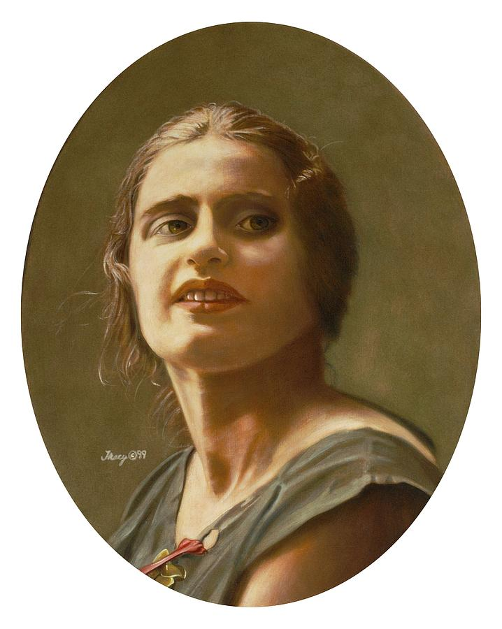 Ayn Rand Painting - Portrait of Ayn Rand by Robert Tracy