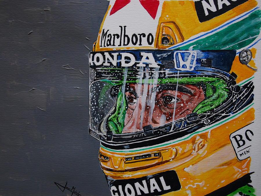 Ayrton Senna Painting - Portrait Of Ayrton Senna by Juan Mendez