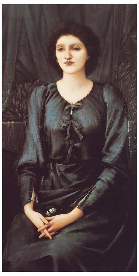 Edward Burne-jones Painting - Portrait Of Baronne Madeleine Deslanders by Edward Burne-Jones