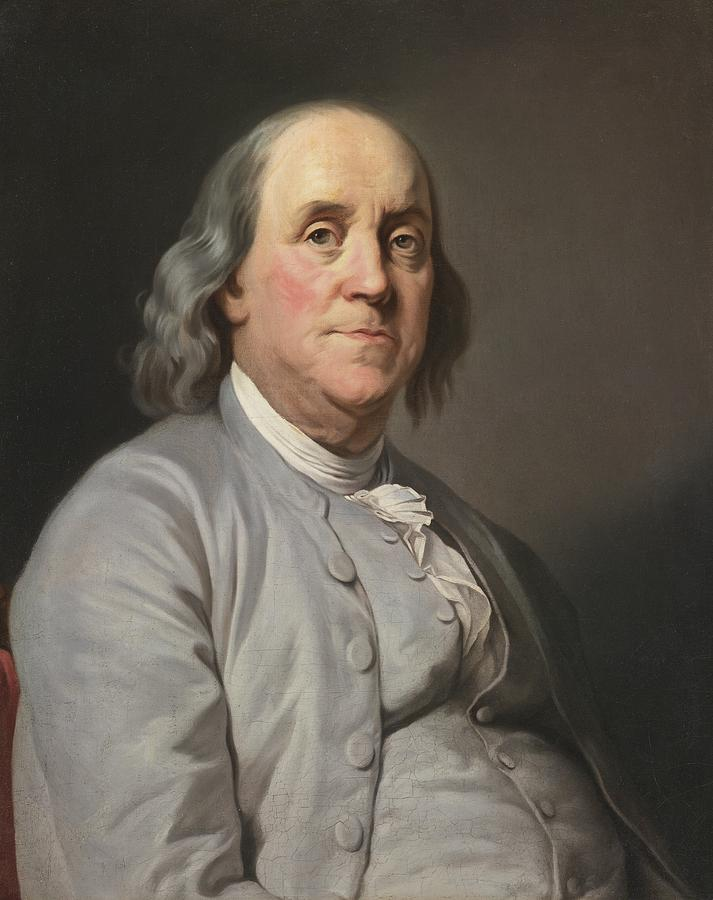 Portrait Of Benjamin Franklin Painting