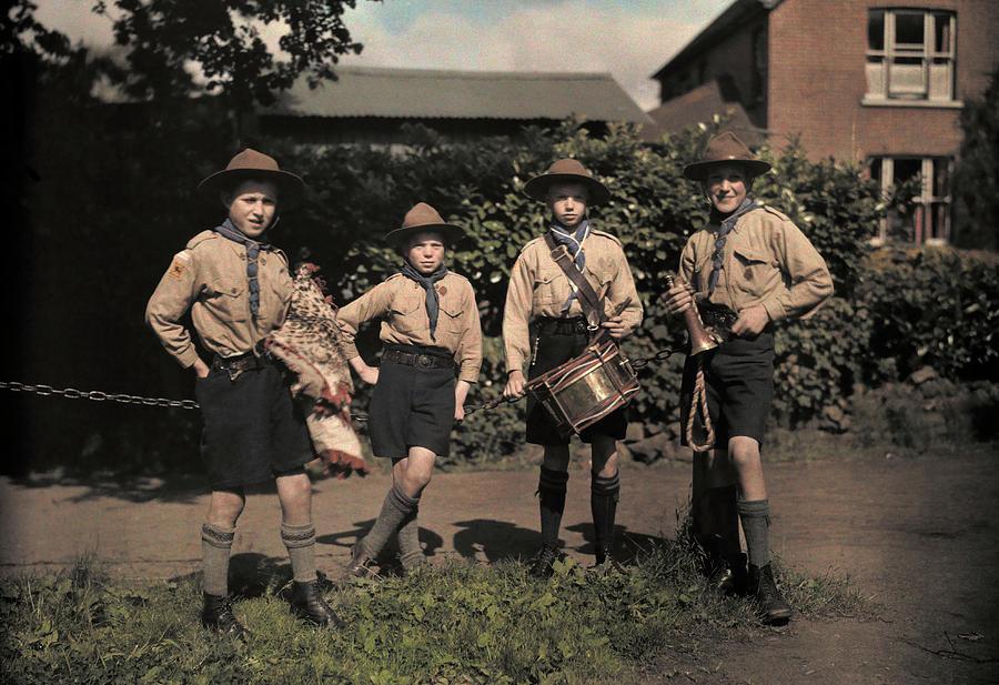 Portrait Of Boy Scouts At Abinger