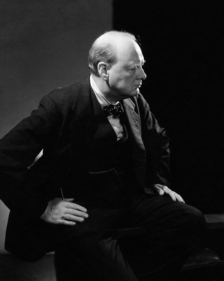 Portrait Of British Prime Minister Winston Photograph by Edward Steichen