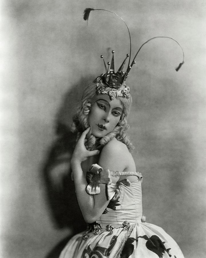 Portrait Of Bronislava Nijinska In Costume Photograph by Florence Vandamm