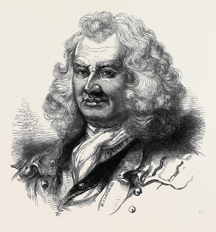 Portrait Drawing - Portrait Of Captain Coram by English School