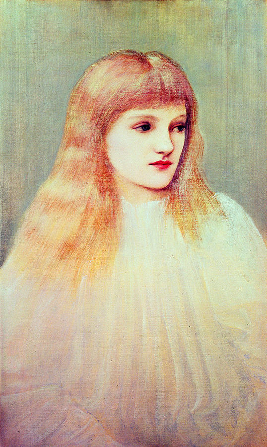 1895 Painting - Portrait Of Cecily Horner, 1895 by Sir Edward Coley Burne-Jones