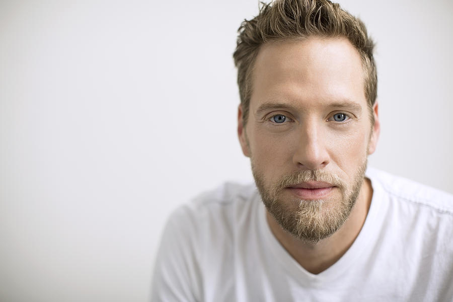 Portrait Of Confident Man With Blonde Beard Photograph by Hero Images