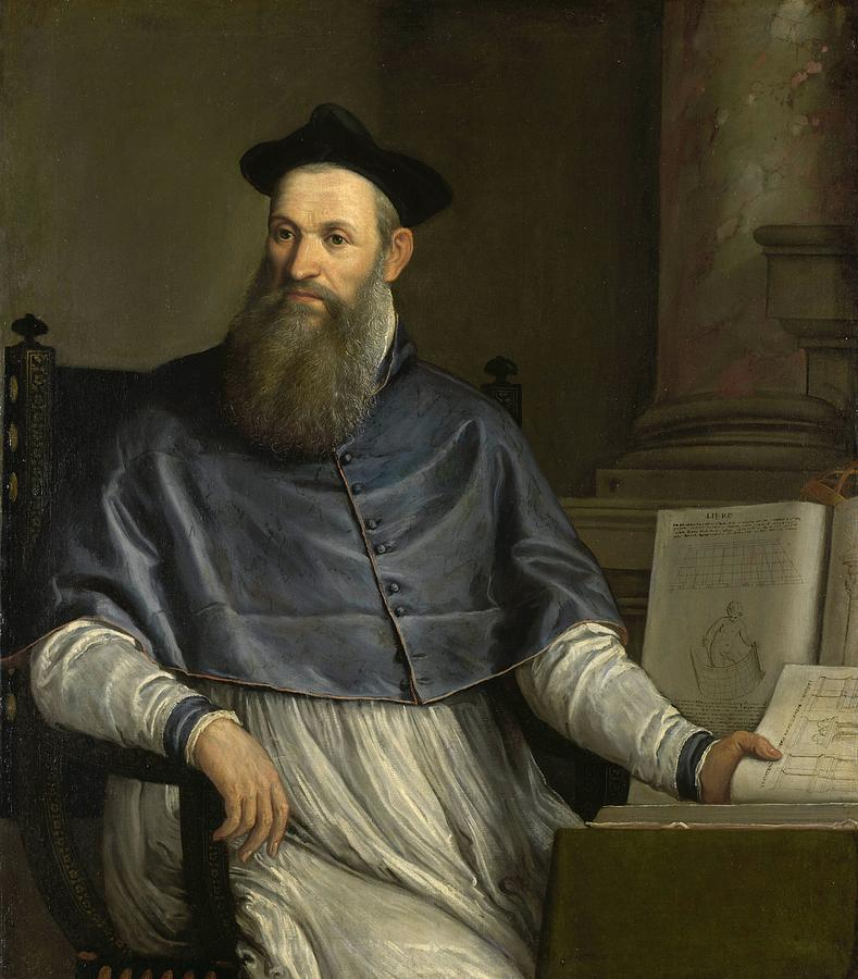 Amsterdam Painting - Portrait Of Daniele Barbaro by Paolo Veronese