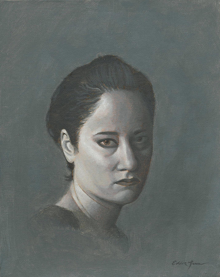 Portrait Paintings Painting - Portrait Of Dc In Grisaille by Eddie Torres