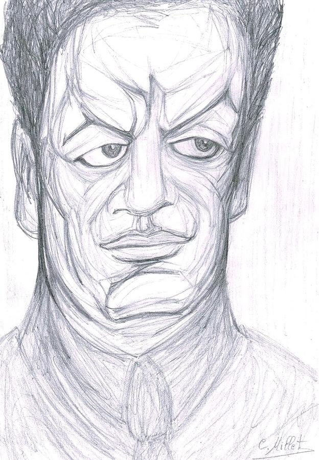 Diego Rivera Drawing - Portrait Of Diego Rivera by Cindy MILLET