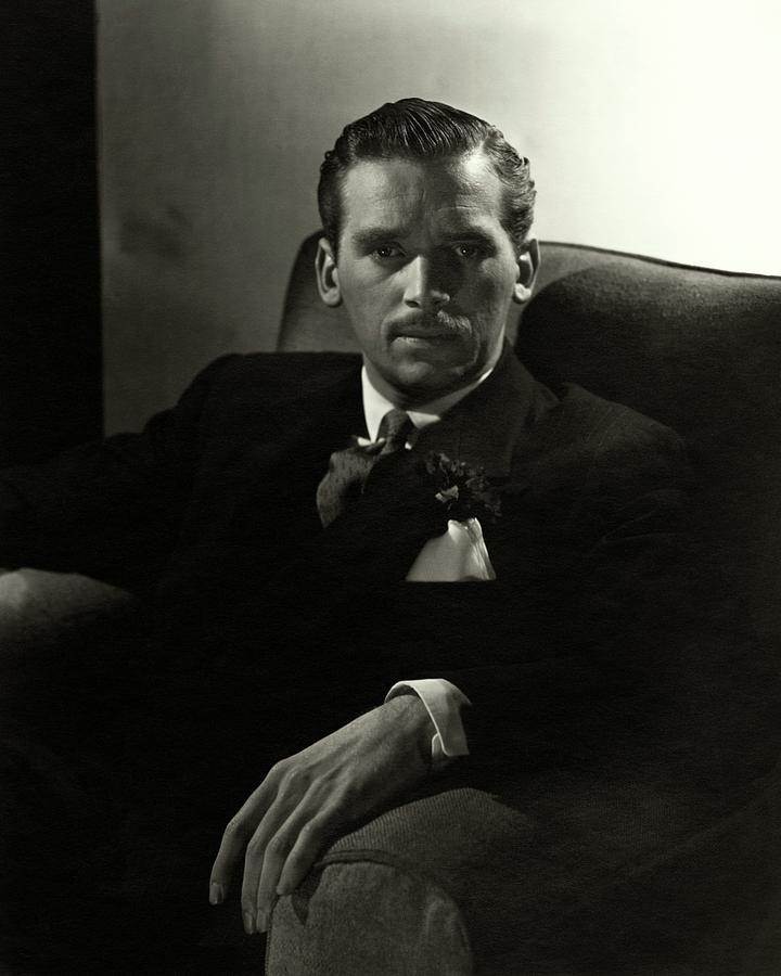 Portrait Of Douglas Fairbanks Jr Photograph by Horst P. Horst