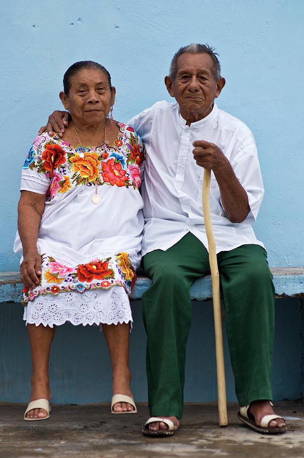 Portrait Of Elderly Couple Photograph by Guylain Doyle