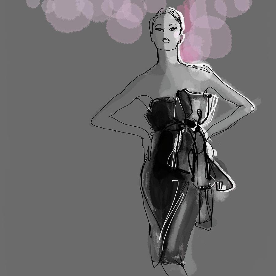 Portrait Of Elegant Woman In Glamorous Digital Art by Jan Richter