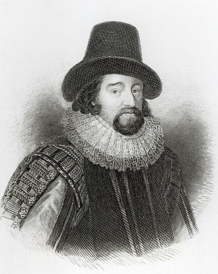 Male Drawing - Portrait Of Francis Bacon by English School