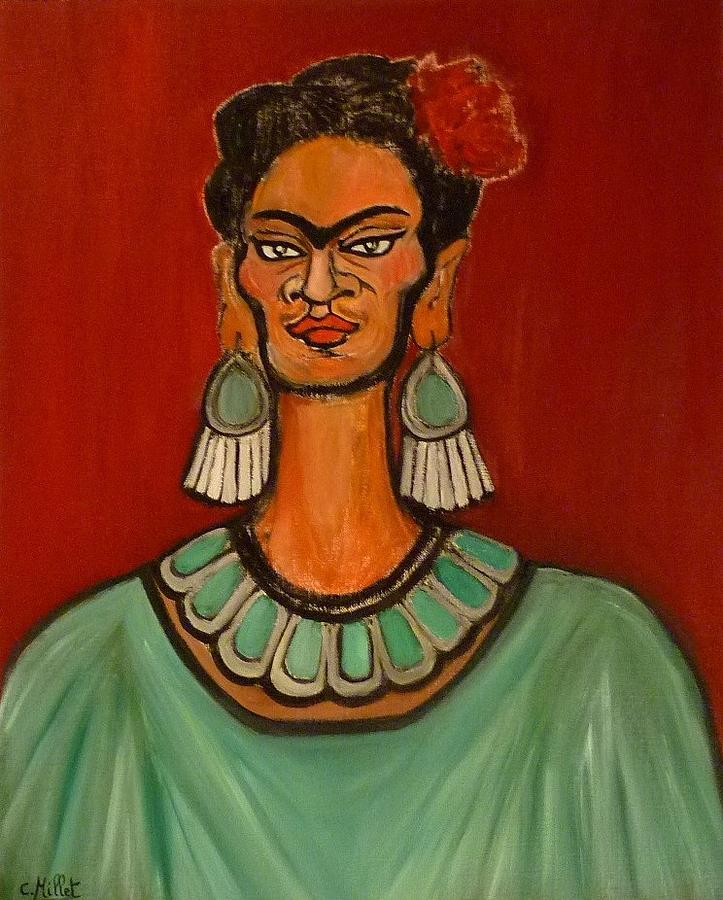 Frida Kahlo Painting - Portrait Of Frida As Aztec High Priestess by Cindy MILLET