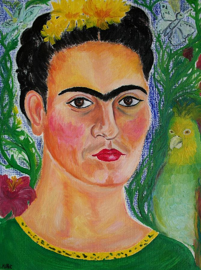 Frida Kahlo Painting - Portrait Of Frida Kahlo Zapotec Icon   by Cindy MILLET